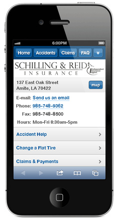 m.schillingreidinsurance.com website preview